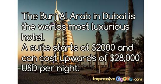 The burj al arab in dubai is the worlds most luxurious for Burj al arab per night